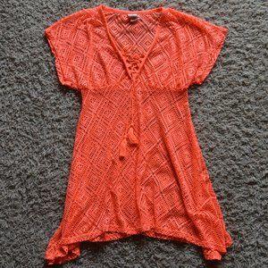 OP Swim Suit Cover-up Size Medium Neon Orange